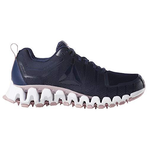73df0ad42e Reebok Womens ZigWild Tr 5.0 Running Shoe (7 M US, Navy/Smoky Rose/White)