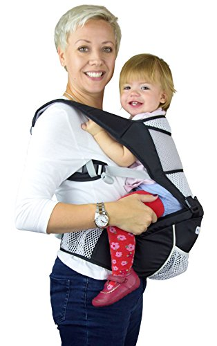 NimNik Baby Sling Carrier Ergonomics Lightweight Hipseat with Lumbar Support, 4 in One Back 2 Front Facing Comfort Positions