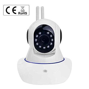 Cámara de Vigilancia Wireless monitor de bebé Pan Tilt Rotación 350º HD cámara IP Inalámbrica Sin