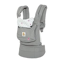 Ergobaby Ergonomic Multi-Position Original Baby Carrier (7-45 Pounds), Pink Grey