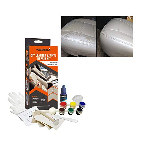 Match Brown Leather Vinyl (Moonvvin Leather Vinyl Repair Kit Liquid Leather Touch Up Recolor Kit Restorer Couch Sofa Car Seat Your Jacket Purse Belt Shoes Etc Restore Scratches Stains Cracks)