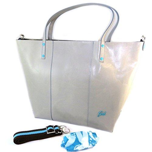 2 in 1 borsa di pelle 'Gabs'grigio (m)- 48x32x14 cm. En Venta En Venta Venta Barata Disfrutar eeeMVG