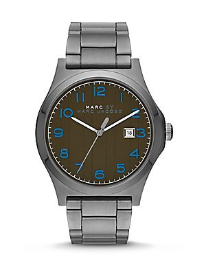 Marc by Marc Jacobs Jimmy Gunmetal Tone Olive Dial (Marc Jacobs Olive)