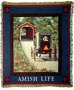 Amish Buggy Tapestry Throw Blanket
