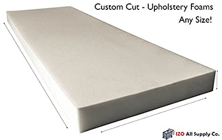 Can be cut to size Message us for custom sizes High Density Upholstery Foam