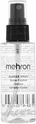 Mehron Makeup Barrier Spray, Pump Bottle (2 oz)