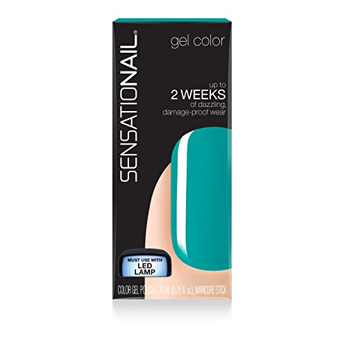 SensatioNail Invincible Gel Nail Polish, 71688 Island Oasis,