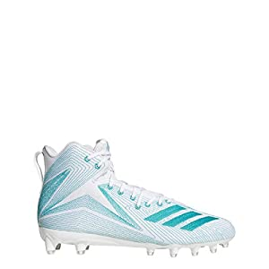 adidas Men's Freak X Carbon Mid Parley Football Cleats (12, White/Green)