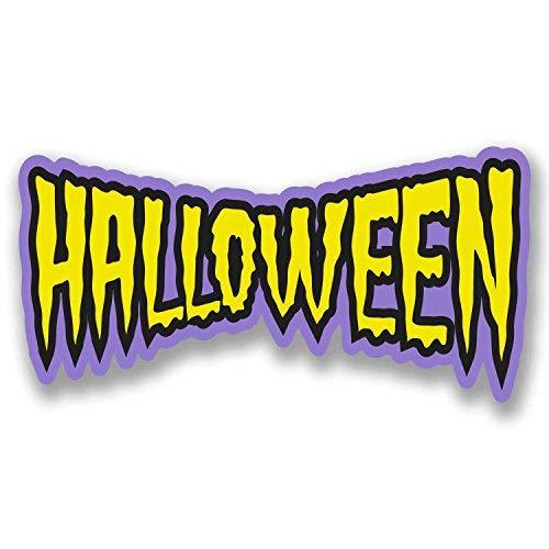 hiusan 2 x Halloween Sign Vinyl Stickers Scary Fun Decoration Window Shop Display(60cm W x 30cm H)