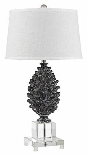 Cal Lighting BO-2469TB Cone Resin Table Lamp with Crystal Base, 30