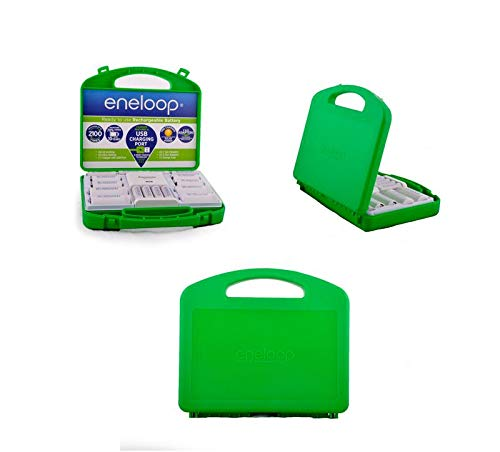 (Panasonic Eneloop Rechargeable Battery Kit/Set 6 x AA, 4 x AA, with C and D adapters (Original)