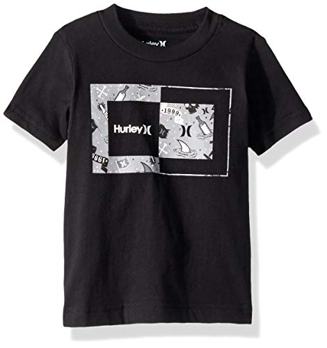 Hurley Boys' Toddler Graphic T-Shirt, Black Sweet Days, 2T