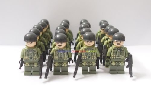 [20 x New WWII US Minifigures American Army Infantry Soldier] (Female Adventurer Costume Ideas)