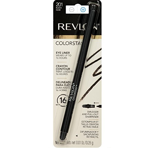 Revlon ColorStay Eyeliner Pencil, Black [201], 0.01 oz (Pack of 4)