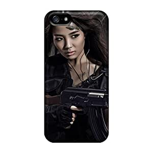 Brand New 5/5s Defender Cases For Iphone (girl In The Army)