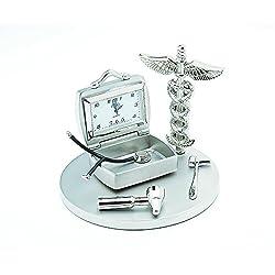 Sanis Enterprises Doctor's Clock, 3.5-Inch, Silver