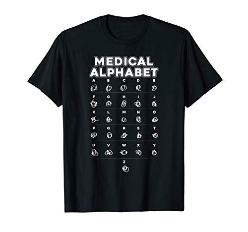 Medical Alphabet Funny T-shirt For Doctors Nurses Chemists ()