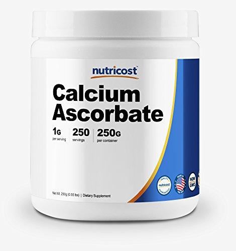 Nutricost Calcium Ascorbate Powder (Vitamin C and Calcium Complex), 250G - Non-GMO, Made in The USA, 250 Serving