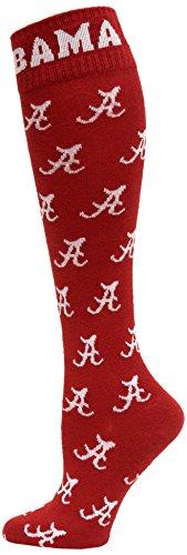 Donegal Bay NCAA Alabama Crimson Tide Dress Socks, One Size, Crimson