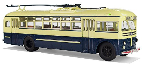 Trolley City - Gifts Delight Laminated 31x14 inches Poster: Ziu MTB Trolley Bus Electric Motor Trackless Trolley Trolley City Bus Model Transport Hobby Oberleitungsomnibus Electric Transport Collect Leisure Lane