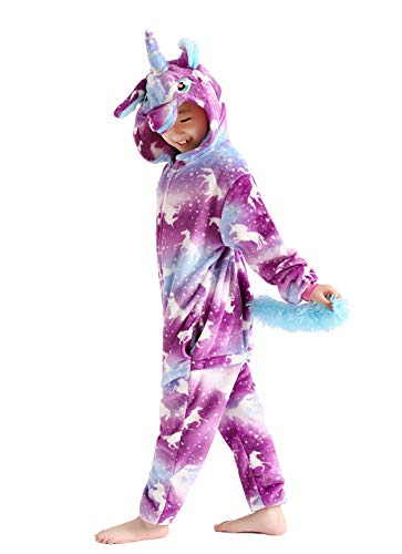 Kids Unicorn Costume Animal Cosplay Pajamas Halloweem Sleepwear