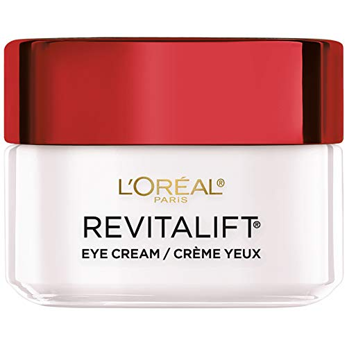 L'Oreal Paris Skincare Revitalift Anti-Wrinkle and Firming Eye Cream Treatment with Pro-Retinol Fragrance Free 0.5 oz. (Best Drugstore Eye Cream For Dark Circles And Puffiness)