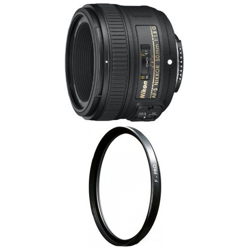 Nikon 50mm f/1.8G AF-S NIKKOR FX Lens with B+W 58mm Clear UV Haze by Nikon