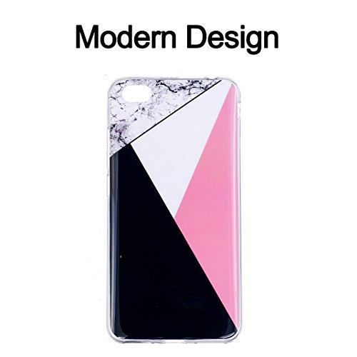 Funda de mármol para Xiaomi Redmi Note 5A, Carcasa Suave TPU Oududianzi Funda de Silicona Flexible Soft Silicone Case Casco Protectora Anti Choque - Niña Mármol tricolor