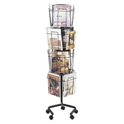 SAF4139CH - Safco Wire Rotary Display Racks Rotary Literature Display Rack
