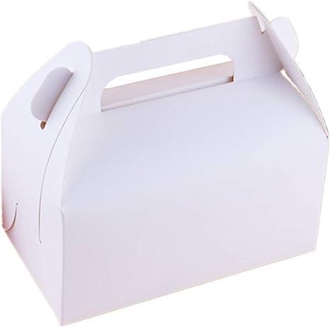 eckig ros/é mit h/übschem Neutraldruck Papstar Geb/äckkartons // Cupcake Box mit Tragegriff #18851 aus 350 gr//m/² starker Pappe 20 x 13 x 9 cm 20 St/ück