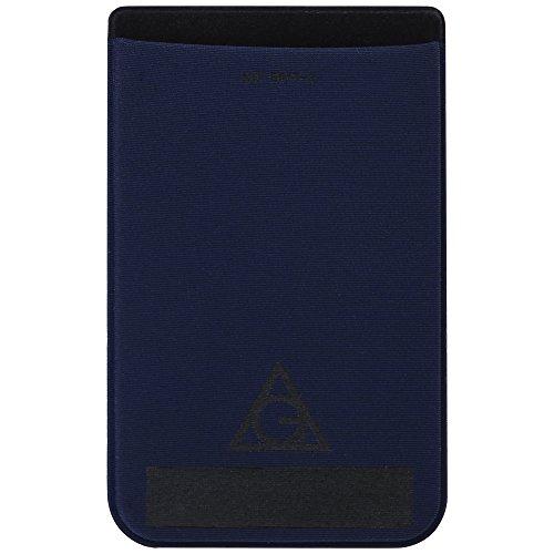 Wall Pockets Blue Peel - AOG DESIGN Ultra Slim Stick On Adhesive Credit Card Wallet, Card Holder for Smartphones, RFID Security (Deep Blue)