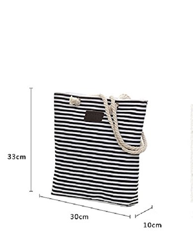 thin de Bolso mujer ClothingTM stripe Samanthajane para Blue playa Fvqxwp