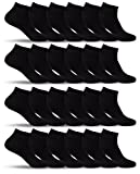 Mens 24 Pack of Extra Lightweight Mid Low Cut Ankle Socks FS Rib-A