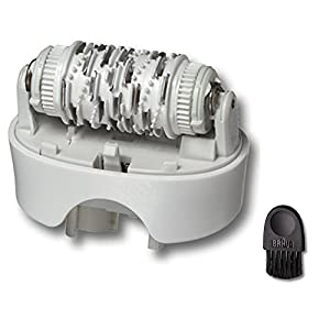 Braun Replacement Standard Epilator Head 67030946 Silk Epil 7 Fits Type 5340, 5375, 5376, 5377 with Braun Cleaning Brush