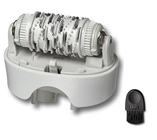 Braun Replacement Standard Epilator Head 67030946 Silk Epil 7 Fits Type 5340, 5375, 5376, 5377 with Braun Cleaning Brush