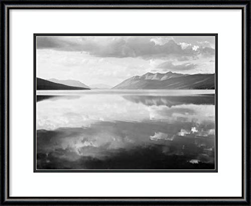 Amanti Art McDonald Lake, Glacier, MT-National Parks and Monuments, 1941 by Ansel Adams Framed Art Print
