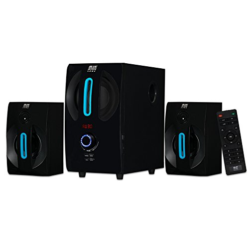 Blue Octave Home 2.1 Speaker System 2.1-Channel Home Theater Speaker System, Black (B22) by Blue Octave Home