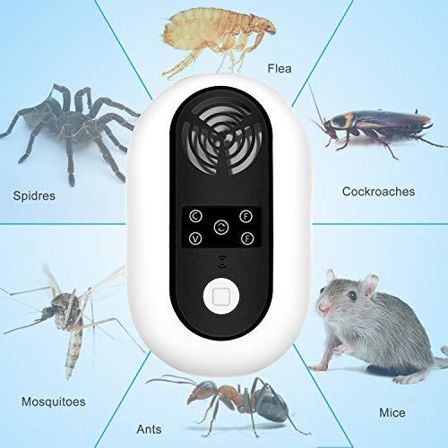 ValueTalks Repelente Ultrasónico de Plagas Repelente Mosquitos Electrico para Las Moscas Cucarachas Hormigas Arañas y Ratas-Control de Insectos para ...