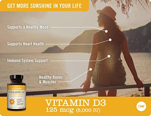 NatureWise Vitamin D3 5,000 IU (1 Year Supply) for Healthy Muscle Function, Bone Health, and Immune Support Non-GMO in Cold-Pressed Organic Olive Oil  Gluten-Free (Packaging May Vary) [360 Count] 9