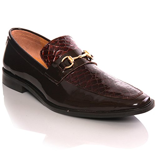 Unze Mens 'Durby' Slipons Leather Designer Formal Shoes – G00261