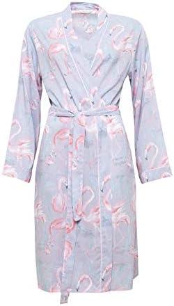 online shop big discount picked up Cyberjammies 4115 Women's Zara Grey Flamingo Print Dressing ...