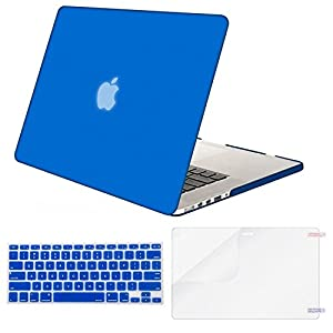 Mosiso Plastic Hard Case with Keyboard Cover with Screen Protector Only for MacBook Pro 13 Inch with Retina Display No CD-Rom (A1502/A1425, Version 2015/2014/2013/end 2012), Royal Blue
