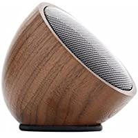 Walnut Speaker - Wood Bluetooth 3.0 Wireless Portable Speaker by Carved