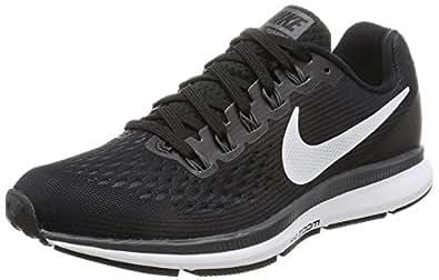Nike Women's Air Zoom Pegasus 34 Black/White Dark Grey Running Shoe 5 Women US