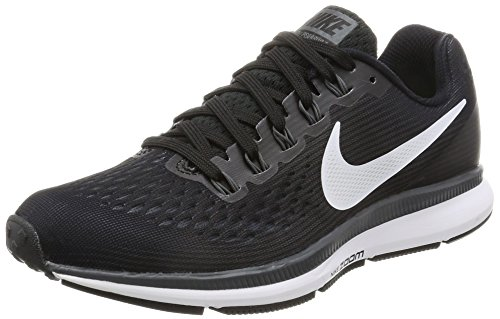(Nike Womens Air Zoom Pegasus 34 Black/White/Dark Grey/Anthracite Running Shoes (9))