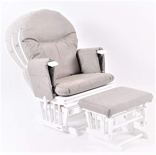 Habebe Glider Rocking Nursing Recliner Maternity Chair with footstool...
