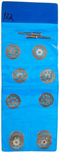 Soledi 10 Pieces Cutting Discs 22mm Sharp Vented Rotary Diamond Mandrel Dremel Tools