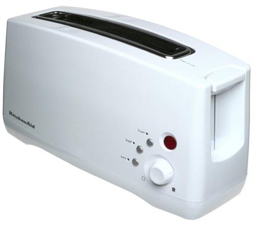 kitchenaid long slot toaster. amazon.com: kitchenaid ktt460wh 2-slice, single-slot digital toaster with bagel, warm, and frozen functions, white: kitchen \u0026 dining kitchenaid long slot