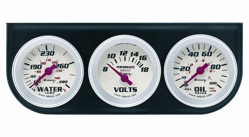 Equus 8200 Triple Gauge Kit (Electric Temperature Gauge compare prices)