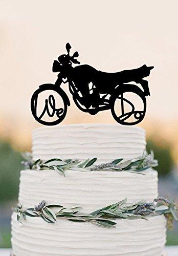 Harley Davidson Motorcycle Wedding Cake Topper Motorbike We Do